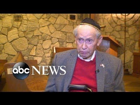 A 93-year-old Holocaust survivor receives a bar mitzvah