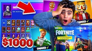 Kid dépense 1000 $ en peaux fortnite ...