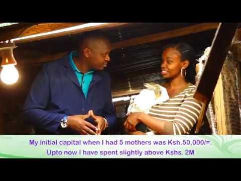 MAUREEN WANYAGA: KENYA'S YOUNGEST LARGE SCALE  RABBITS FARMER