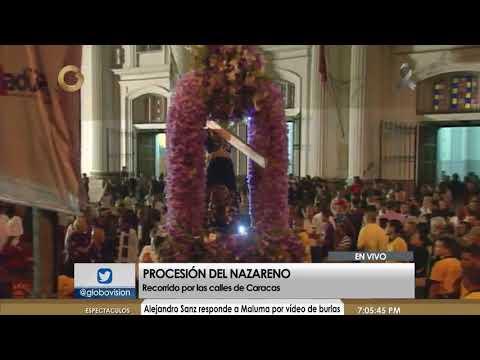 Multitud acompa�a a procesi�n del Nazareno de San Pablo