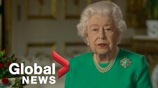 """Coronavirus outbreak: Queen Elizabeth II calls for unity in """"increasingly challenging time""""   FULL"""