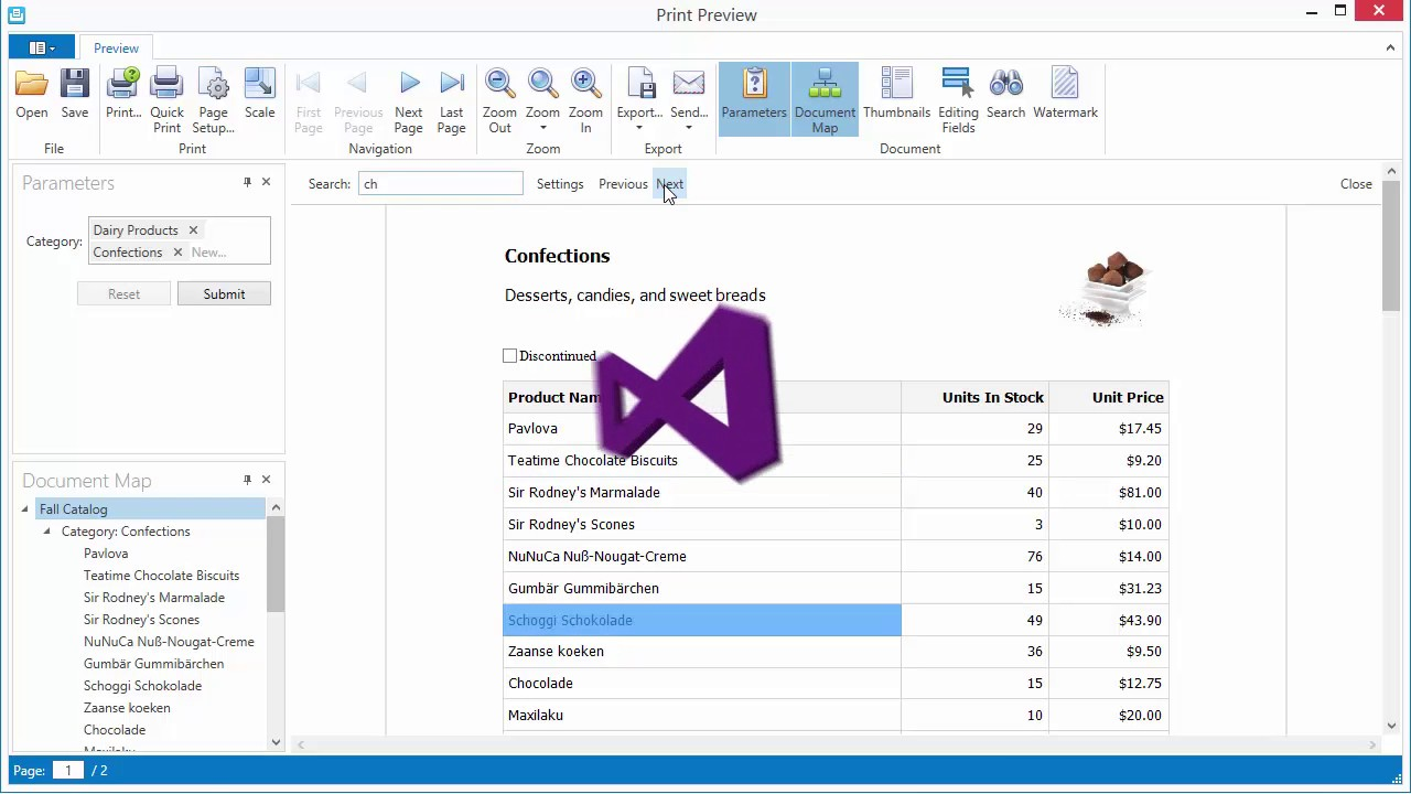 Reporting: WPF Publishing and Preview