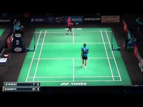 Tommy Sugiarto vs Brice Leverdez | R1 Australian Badminton Open 2015