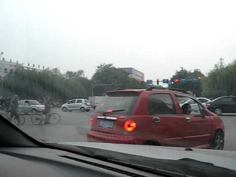 Straßenkreuzung in Gaobeidian