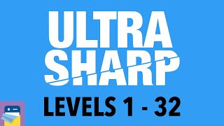 Ultra Sharp: Levels 1 - 32 Walkthrough Guide & Solutions & iOS / Android Gameplay (by 1Button SARL)