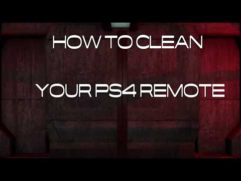 How to take apart and clean play-station 4 remote