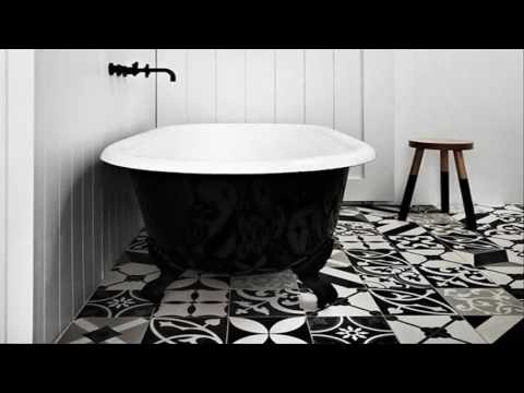 Black And White Bathroom Floor Tile Designs