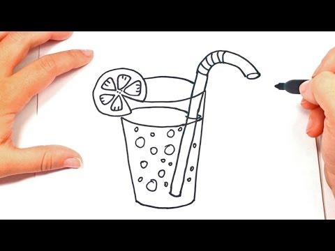 How To Draw A Glass | Glass Easy Draw Tutorial