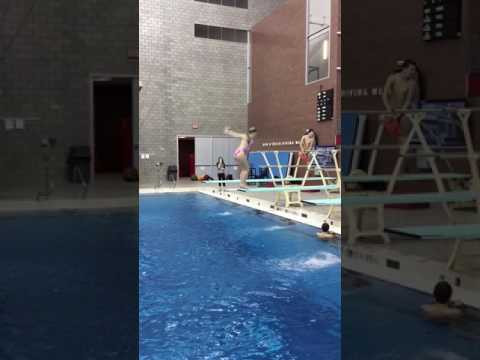 Libby Boothman  - Class of 2018 - Ohio State Diving Club Practice 9 Jan 2017