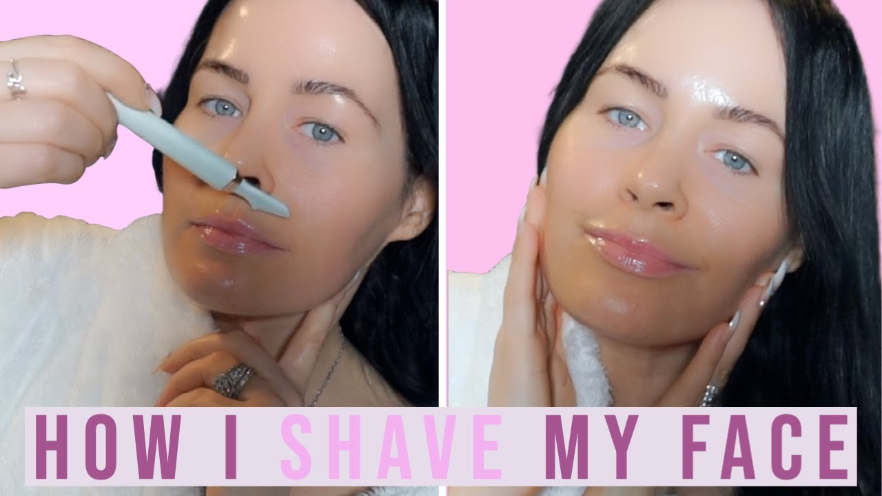 How to Shave Your Face at Home I Face Shaving Women I Skincare Haul 2021 I Super Smooth Skin!!