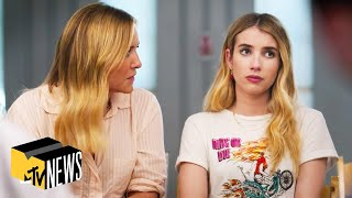 Emma roberts sits down with mtv news's josh horowitz to talk about her new film, 'holidate,' how she chooses producing and acting projects, more.0:07 wha...