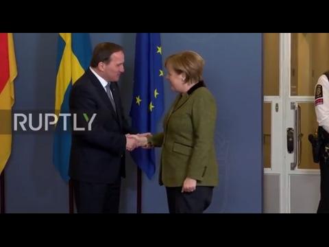 Sweden: Loefven and Merkel denounce Trump's 'Muslim ban ...