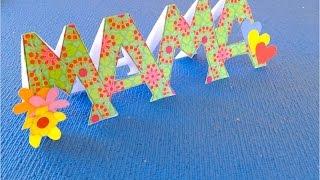 DIY. ♥ Что подарить Маме? ♥ Детские поделки своими руками ♥ Оригинальная открытка♥(Оригинальная открытка в подарок маме на День Рождения Можно использовать идею и сделать такой подарок..., 2016-03-05T09:00:02.000Z)