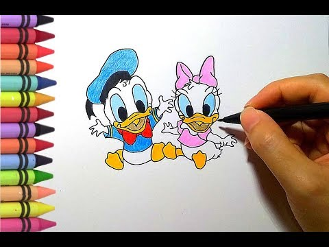 How To Draw Baby Donald And Daisy Duck | Art For Kids | Drawing For Kids | Belajar Menggambar