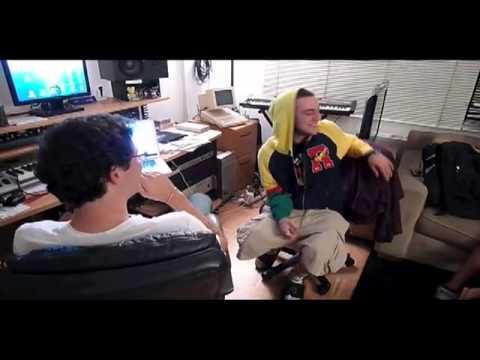 Mac Miller in the studio with Matt Friedman from ILLFONICS