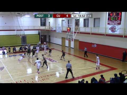 Caldwell vs. Post Univ. Men's Basketball, 1/16/2017