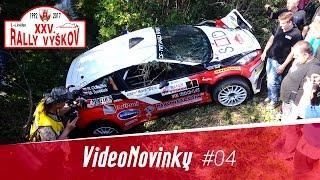 XXV. Rally Vyškov - průjezdy a havárie Romana Odložilíka, rozhovory v cíli (ACTION)