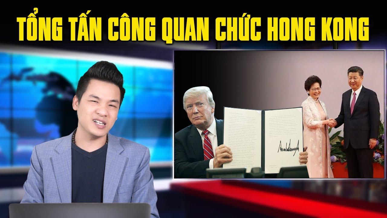 TT Donald Trump đóng băng tài sản Carrie Lam & 11 quan chức Hong Kong