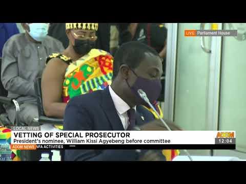 President's nominee, William Kissi Agyebeng before committee - Premotobre Kasee on Adom TV (22-7-21)