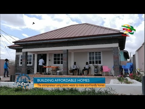 Biztech: How a Ghanaian is building affordable homes with plastic waste | 22 May 2021