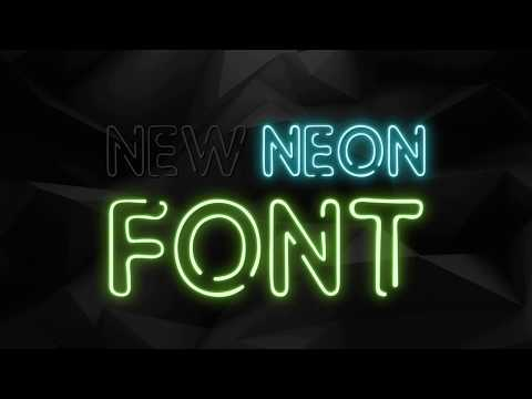 Neon animation text effect online maker