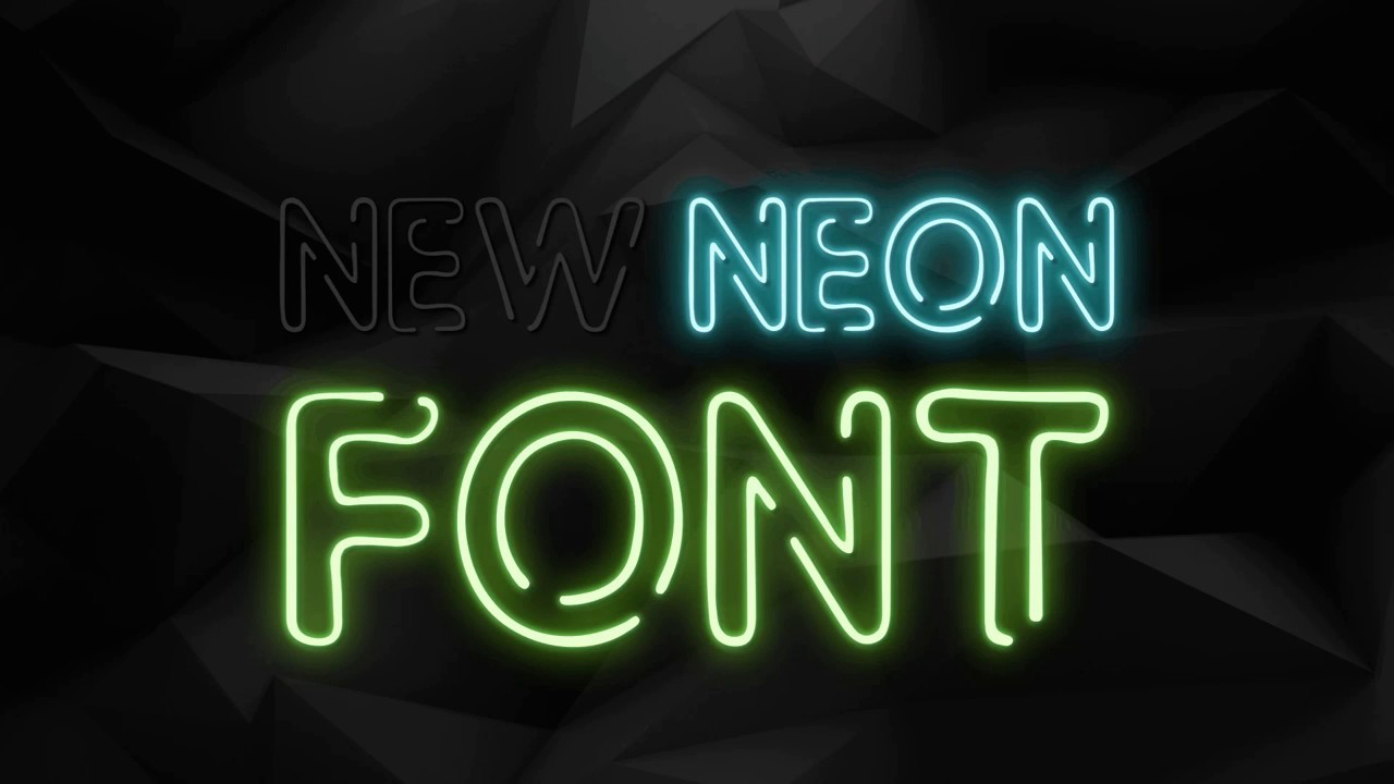 neon animation text effect