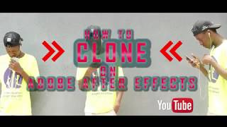 How To Clone In Adobe After Effect
