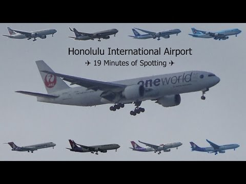 The ULTIMATE Honolulu International Airport Planespotting Video ✈ 19 Minutes of Action!