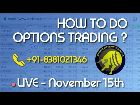 LIVE OPTION trading india 15 November 2017(Hindi) HINDI
