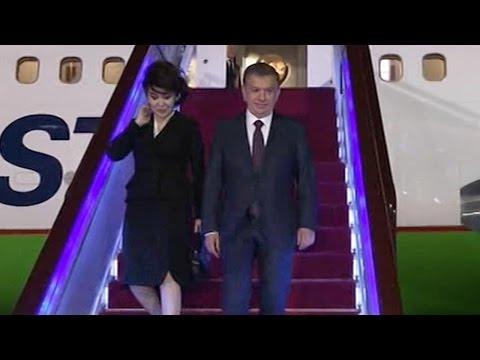 Uzbek president arrives in Beijng for Belt and Road Forum