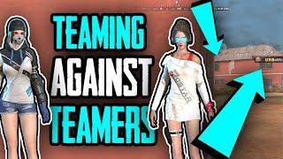 Teaming to kill teamers! (Shotgun Gold Mode!) | Rules Of Survival thumbnail