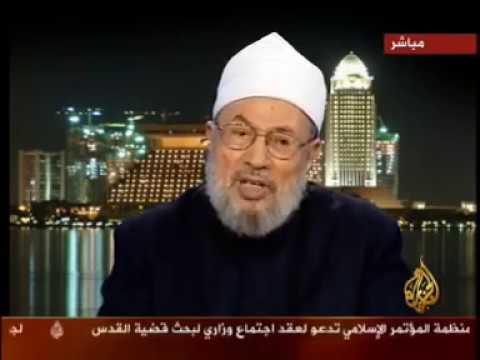 مناظرة بين الشيخ يوسف القرضاوي والرئيس الإيراني السابق علي أكبر هاشمي رافسنجاني