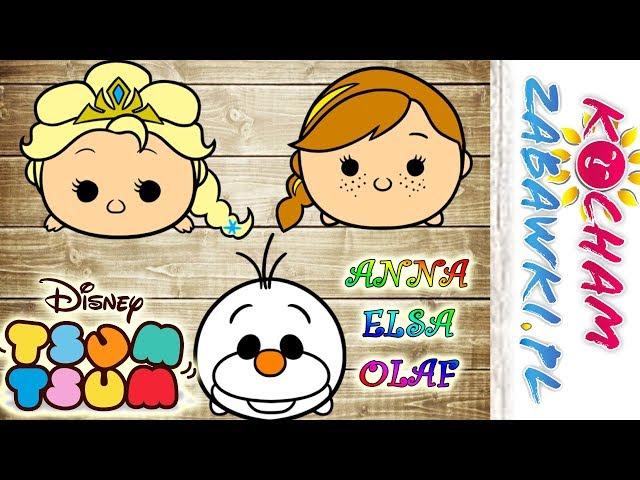 Tsum Tsum & Disney Frozen • Elsa i Anna w muzeum • bajki po polsku