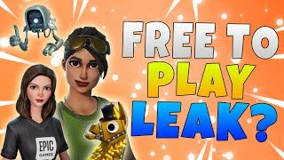 Fortnite Save The World Free To Play Leak? | Fortnite Save The World Free News