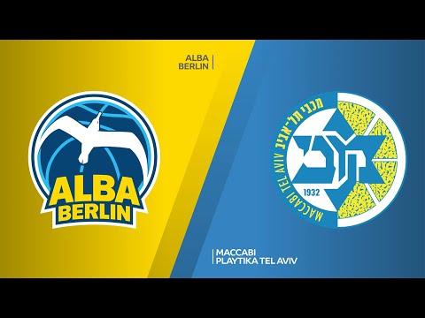 ALBA Berlin - Maccabi Playtika Tel Aviv Highlights   Turkish Airlines EuroLeague, RS Round 18