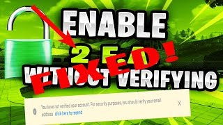 FORTNITE - HOW TO GET FULL ACCESS TO AN ACCOUNT WITHOUT VERIFYING (AFTER PATCH)