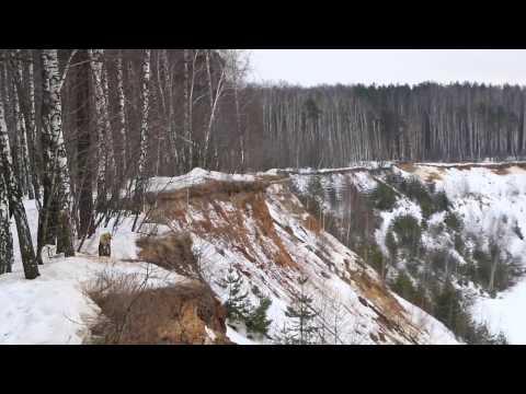 Котельники. Зимний большой карьер в Томилинском лесопарке