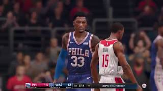 NBA Live 18 Opening Day Phladelphia 76ers vs Washington Wizards 2017 2018 Season