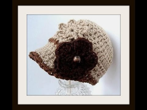 CAP CROCHET NEWSBOY PATTERN - Crochet — Learn How to Crochet