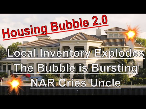 Housing Bubble 2.0 - Inventory Explodes Onto the Market - The Bubble is Bursting !