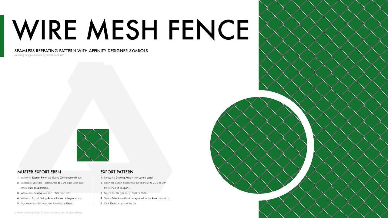 Affinity Designer Pattern Wire Mesh Fence