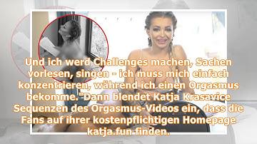 Vor laufender Kamera: Katja Krasavice testet Orgasmus-Maschine