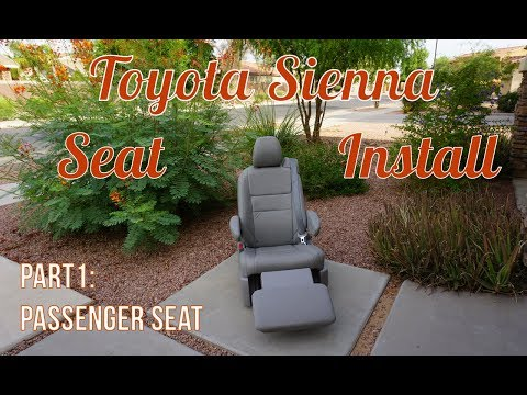 Toyota Sienna Seats in an RV - Part 1: The Passenger Chair