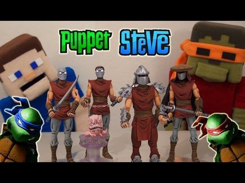 Ninja Turtles Tmnt NECA Villains Shredder BOX SET NYCC Exclusive Unboxing - Puppet Steve