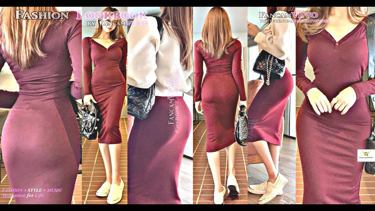 [VIDEO] - HOW TO STYLE | BEST CASUAL FALL OUTFIT IDEAS | V-NECK MINI DRESS | FASHION LOOKBOOK | 원피스 가을패션 코디법 1