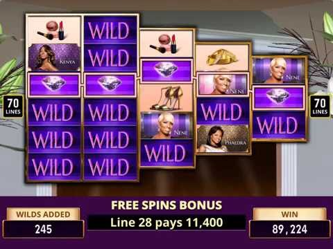 THE REAL HOUSEWIVES OF ATLANTA Video Slot Game with a BONUS