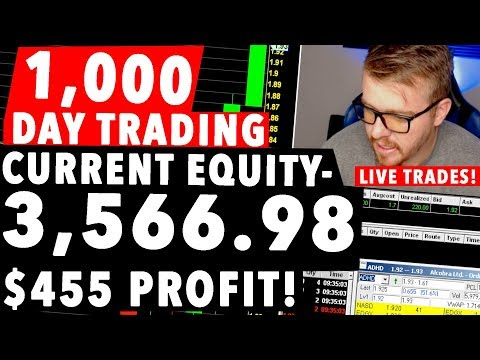 $1,000 Dollar Day Trading LIVE! +15% PROFIT TODAY!