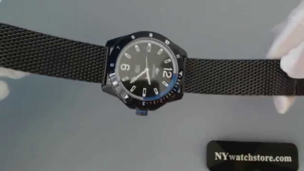 4124a9a9b69 Men s Black Lacoste Durban Stainless Steel Mesh Watch 2010735 - YouTube