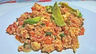Como Hacer Huevo A La Mexicana - How To Make Mexican Scrambled Eggs