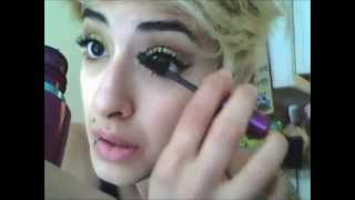 EVs Gold glitter eyeshadow make up video Thumbnail